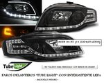 AUDI A4 B7 2004/2008 (PIL2769) Faros TUBE-LIGHT Negros con Intermitente LEDs