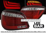 BMW E60 07.2003/02.2007 (Ref:LDBME8) Pilotos LED-BAR Rojo/Cristal