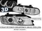 BMW E39 09.1995/06.2003 (REF:LPBM05) Faros Angel Eyes Dobles (3D) Cromados