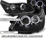 CITROEN C4 2004/2010 (Ref:LPCI10) Faros Angel Eyes Negros (Regulacion Manual)
