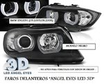 "BMW E90/E91 03.2005/08.2008 (LPBMI4) Faros ""ANGEL EYES LED 3D"" Negros"