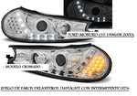 FORD MONDEO 10.1996/08.2000 (LPFO28) Faros DAYLIGHT Cromados con Intermitente LEDs