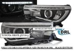 "TOYOTA HILUX 2016+ (Ref:PIL3683) Faros ""LED PROJECTOR DRL - BLACK EDITTION"""