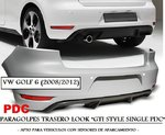 "VW GOLF 6 2008/2012 (Ref:ZTVW04) Paragolpes Trasero ""LOOK GTI SINGLE PDC"""