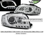 "AUDI A3 (8P) 05.2003/03.2008 (REF:LPAU97) Faros ""LED TUBE LIGHTS"" Cromados"