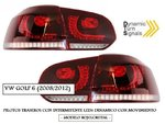 "VW GOLF 6 2008/2012 (REF:PIL4115) Pilotos ""LOOK R20"" Con Intermitente LEDs Dinamico (Cherry Red)"