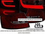 "AUDI A6 C6 SEDAN 04.2004/2008 (REF:LDAUC1) Pilotos ""LED/BAR"" Rojo/Ahumado (6 PINs)"