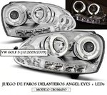 VW GOLF 5 10.2003/2009 (Ref:LPVWB7) Juego de Faros Angel Eyes + LEDs Negros