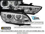 "BMW E92/E93 2006/2010 (Ref:LPBMJ4) Faros ""ANGEL EYES - LED DRL"" Cromados (Aptos Xenon D1S)"