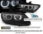"BMW E92/E93 2006/2010 (Ref:LPBMJ3) Faros ""ANGEL EYES - LED DRL"" Negros (Aptos para AFS HID)"