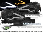 "LEXUS IS 2013/2016 (Ref:LPLE08) Faros ""LED PROJECTOR TUBE LIGHT"" Negros"