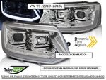 "VW T5 2010/2015 (Ref:PIL4406) Faros Cromados ""TUBE LIGHT"" con Intermitente Dinamico"