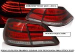 "MERCEDES ""W166"" CLASE M 2011/2015 (Ref:PIL4470) Pilotos LED/BAR Rojo-Claro"