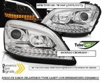 "MERCEDES ML ""W164"" 2005/2007 (Ref:LPMEC9) Faros ""TUBE LIGHT"" Cromados con Intermitente Dinamico"
