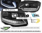 "VW T6 2015/2019 (Ref:LPVWR9) Faros con Intermitente Dinamico ""TUBE LIGHT LED SEQ DRL"" Negros"